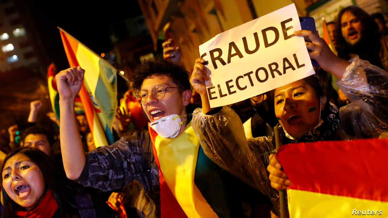 reuters Bolivia protests election 25oct19